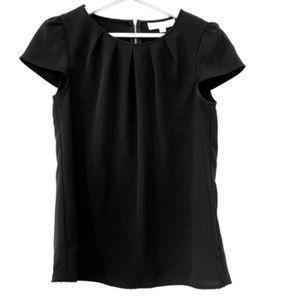 Black Ann Taylor LOFT Short Sleeve Shirt XS